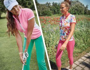Golfkleidungstrend 2018 - sattes Pink und Blumenmuster