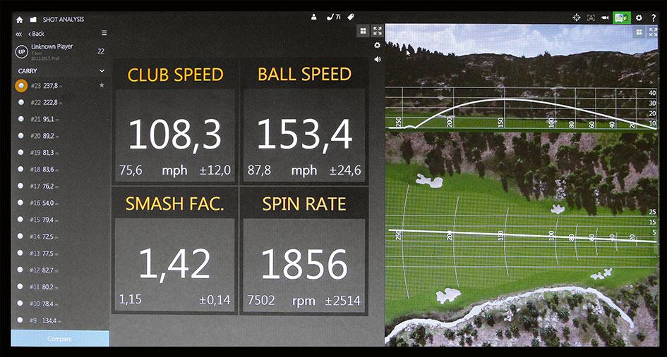 Golf Ball Fitting Trackman 2 - Ball-Fitting  - testen lohnt sich!