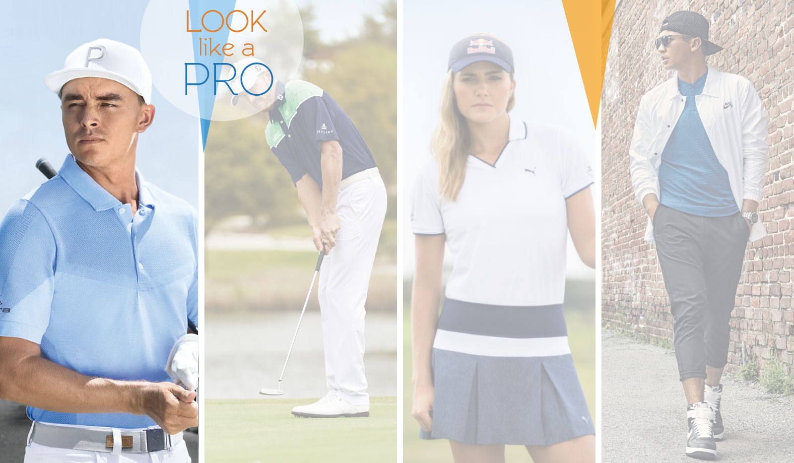 Golfprofis im Sport Outfit