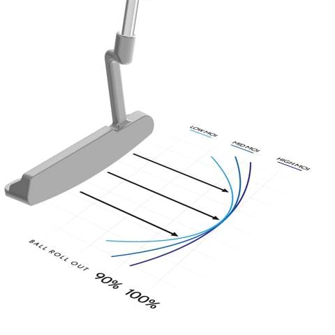 Grafikschnitt eines Golfschlägers der die Karftübertragung zeigt