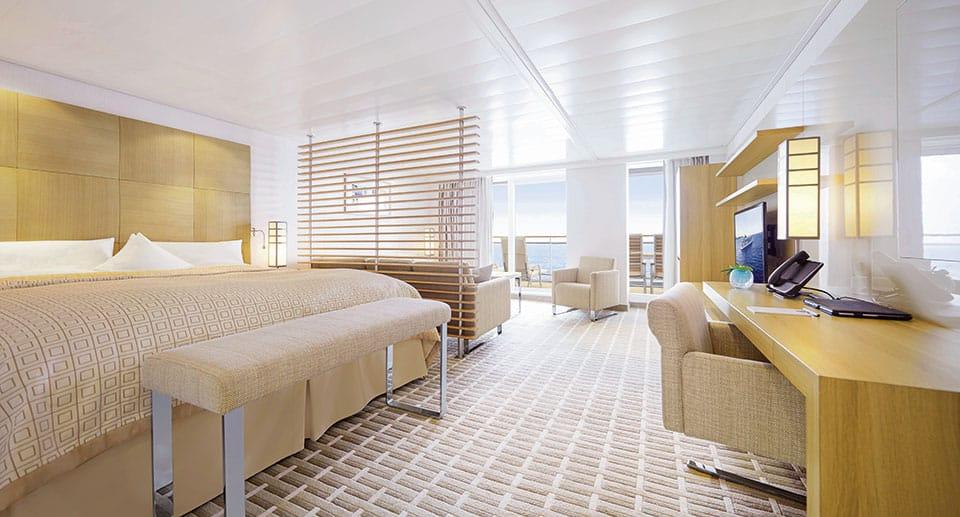 EUROPA 2 Penthouse Suite leer 300dpi - Golf &  Cruise = Kreuzfahrt  + Golfvergnügen