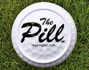 flacher Golfball von oben