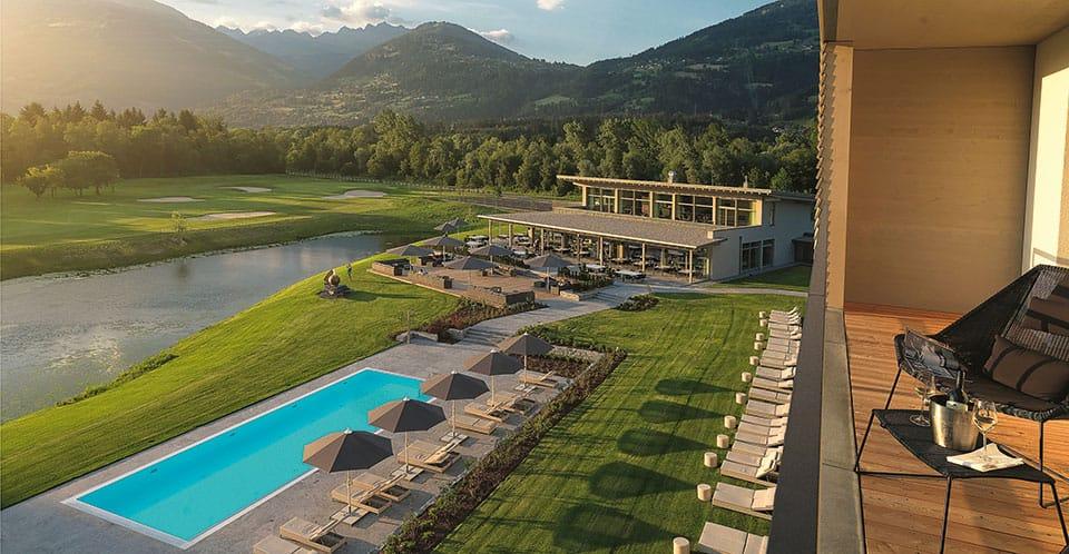 Dolomitengolf Resort Blick vom Balkon