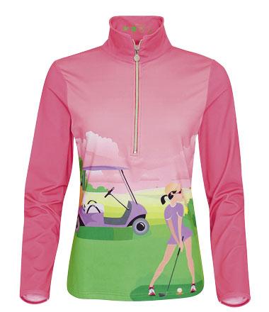 girls golf Motiv-Shirt landscape