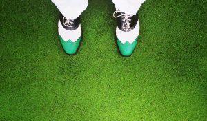 Golfschuhe von oben