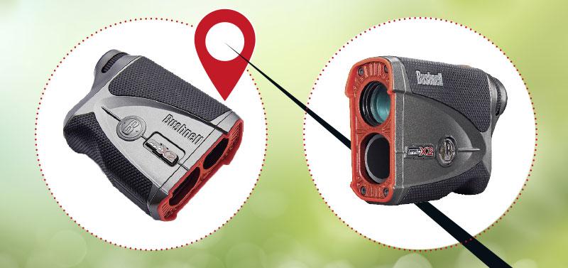 2 Ansichten vom bushnell Laser ProX2