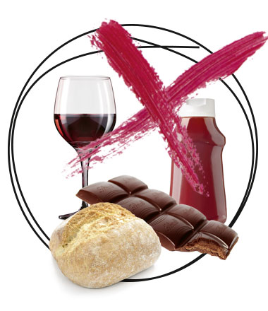Wein, Ketchup, Schokolade, Weissbrot sind Kalorienfalle
