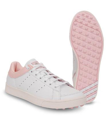 adidas-damen golfschuhe-adicro weiss, rosa