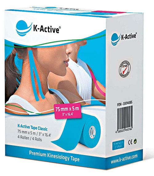"""K-Active Tape """"Classic"""" Klassisches Kinesio-Tape in Profi-Qualität. Schadstoffrei und besonders hautverträglich."""
