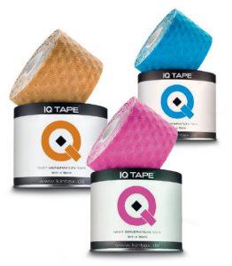 KINTEX IQ-Tapes Kieselgelperlen auf der Klebefläche, die sich in die Haut absenken, sorgen bei diesem Tape für einen besonders intensiven Massageeffekt.