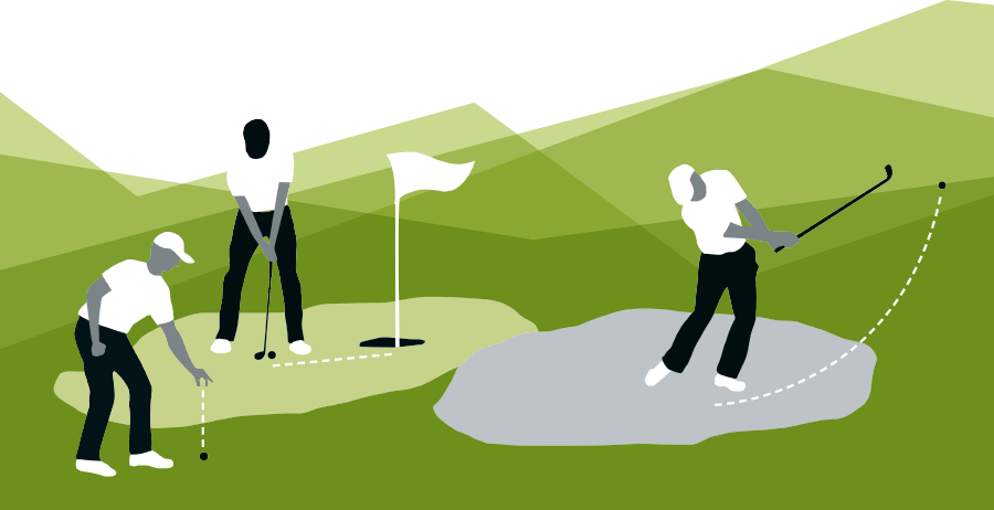 Illustrationen Golfspieler
