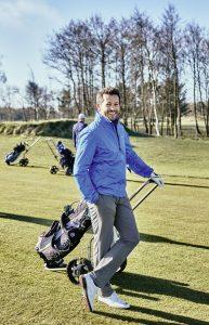 Jan Hartmann auf dem Golfplatz
