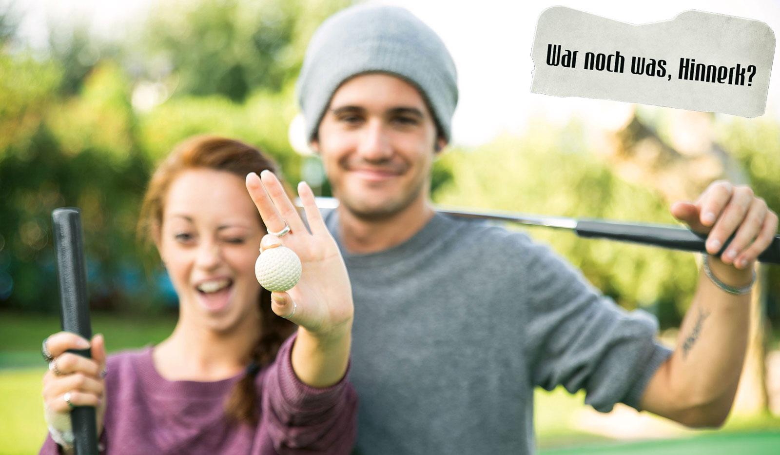 Junge Golfspieler
