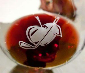 Weinglas mit Gute Apeldör Gravur