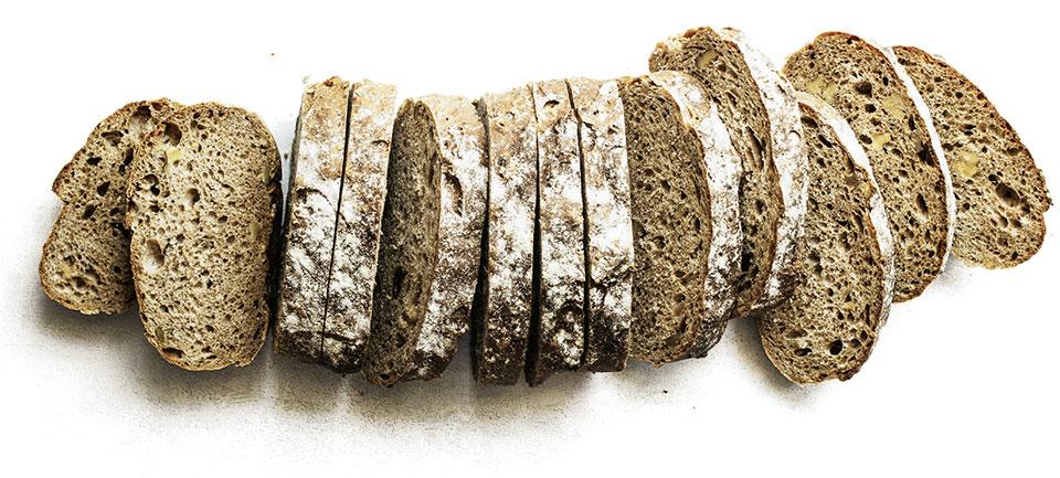 aufgeschnittenes Brot