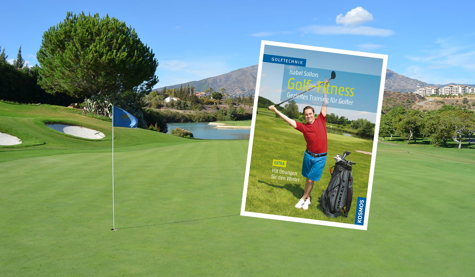 Golfplatz und Cover Golf Fitness