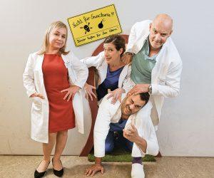 """Der Haupt-Cast von """"Dr. Klein"""" (v.l.n.r.): Christine Urspruch, Clelia Sarto, Michael Klammer und Simon Licht."""
