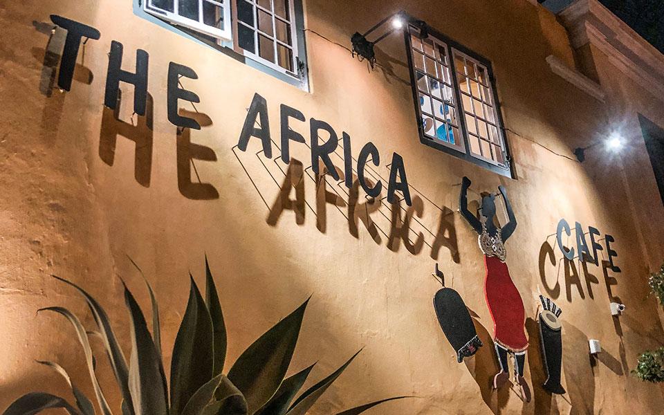 Hauswand Cafe Afrika