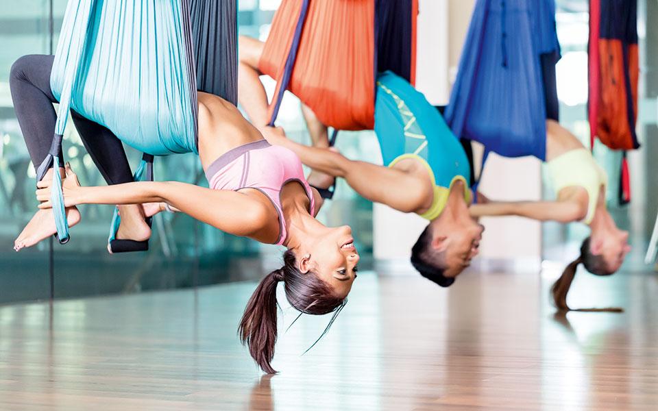 Air Yoga Stunde