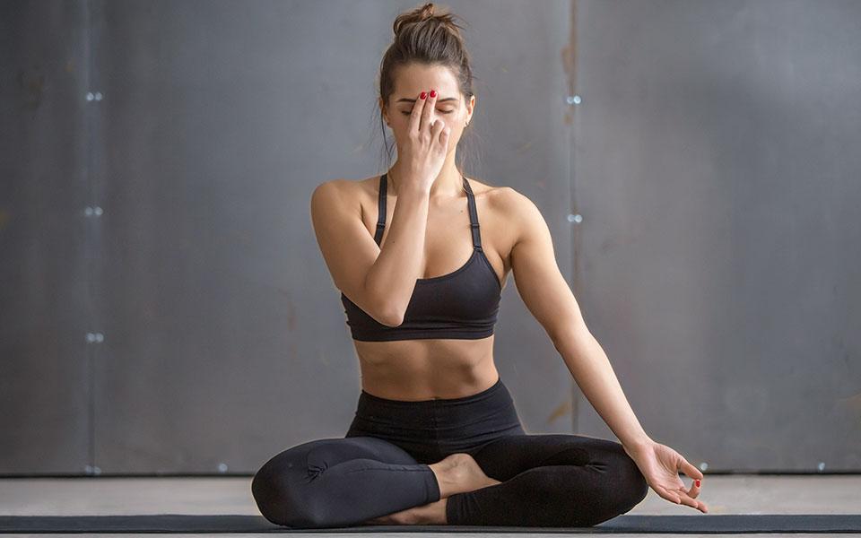 Yoga- und Meditation-Übung