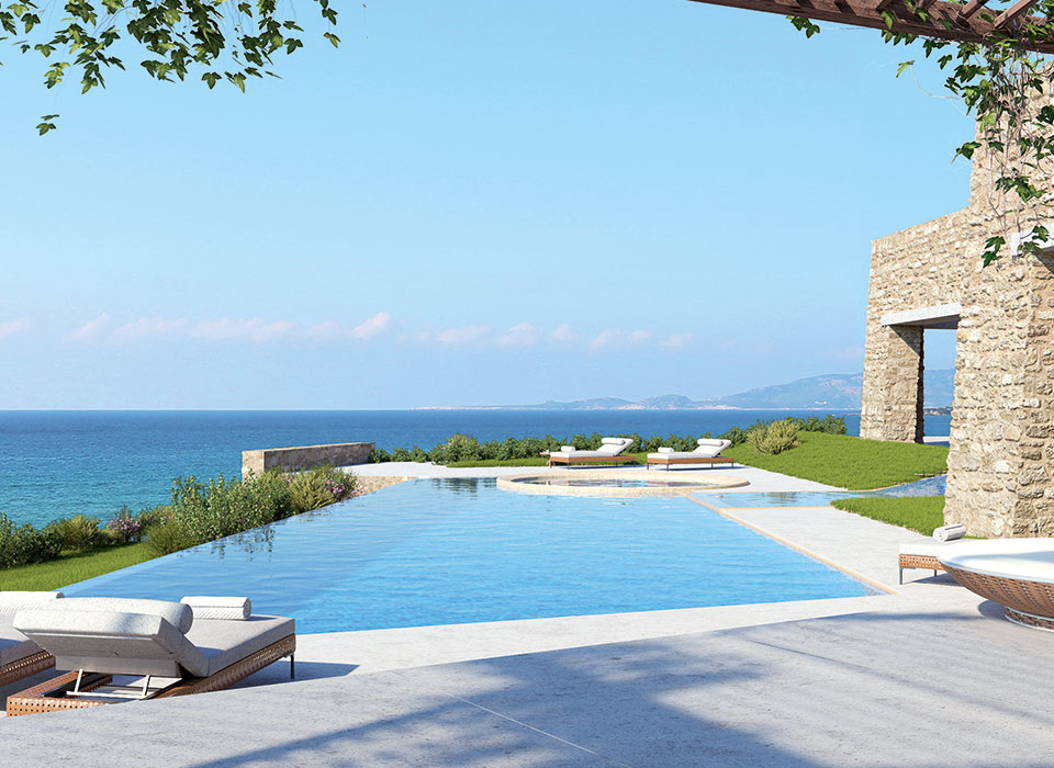 Terrasse mit Pool