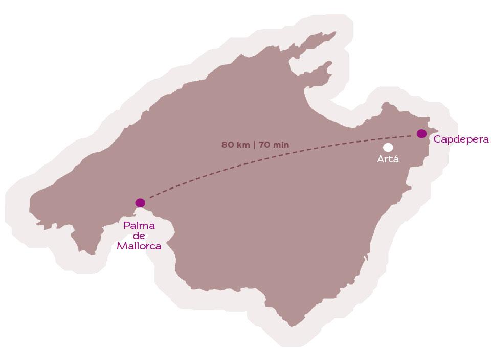 Karte Capdepera