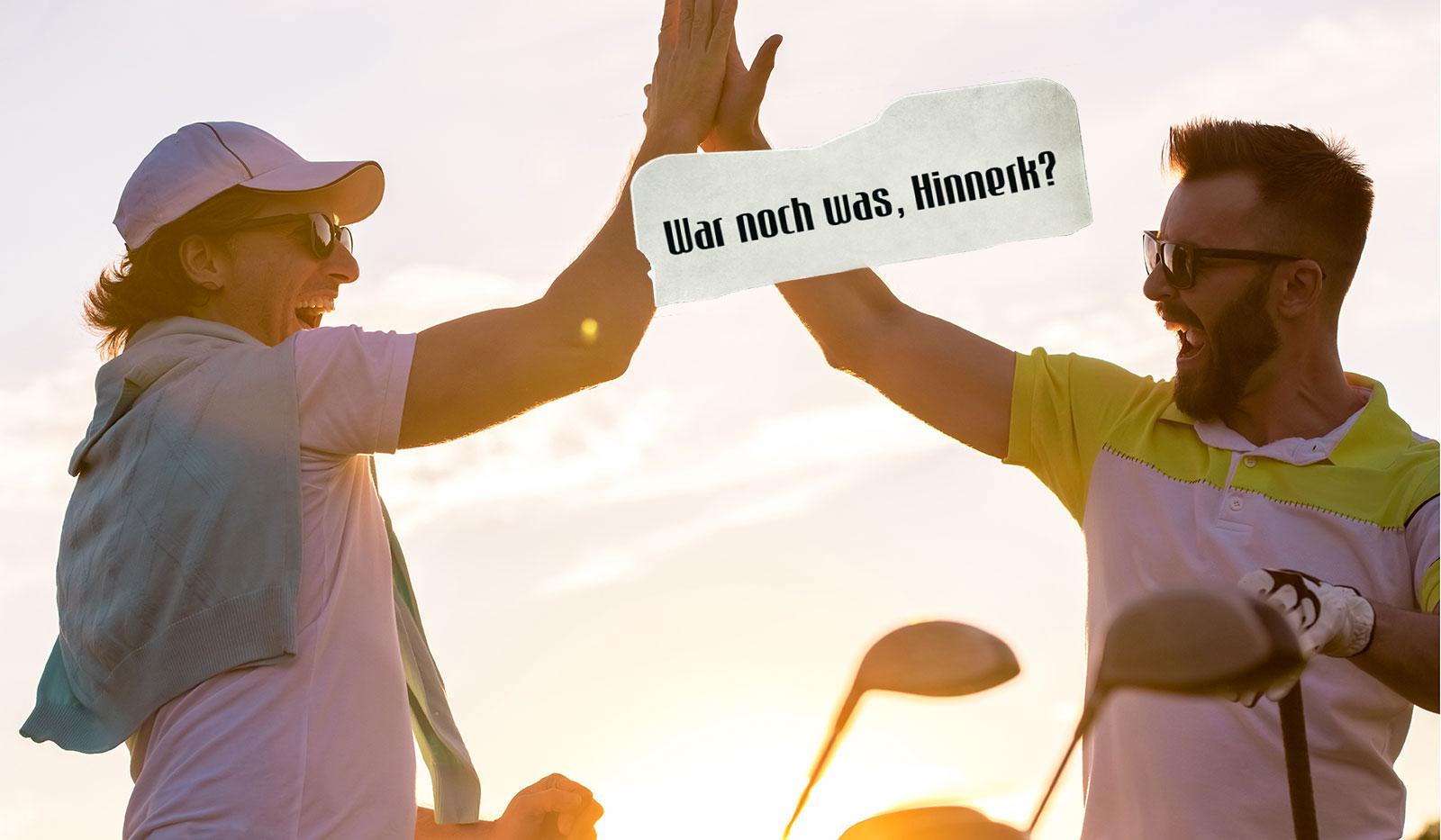 Golfer klatschen ein