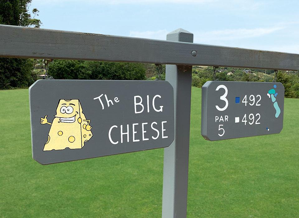 Wegweiser des Bay of Island Golfplatzes