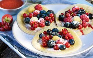 Pancakes mit Beeren-Topping
