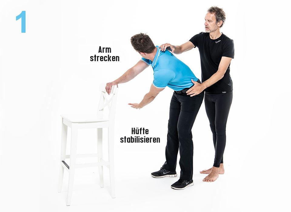 Thread the Needle step1 - Pilates Teil 2: Brustwirbelsäule