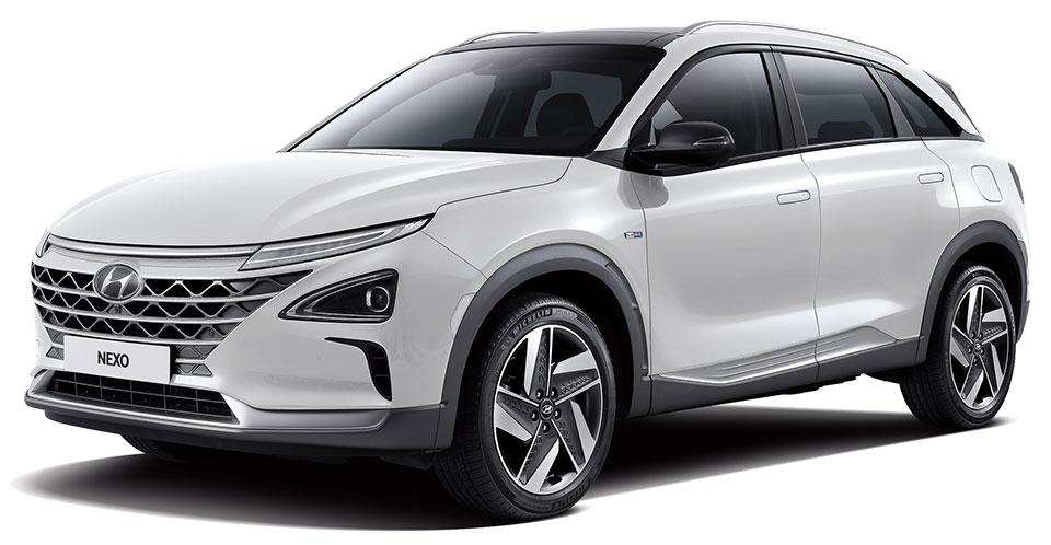 silberner Hyundai Nexo Außenansicht