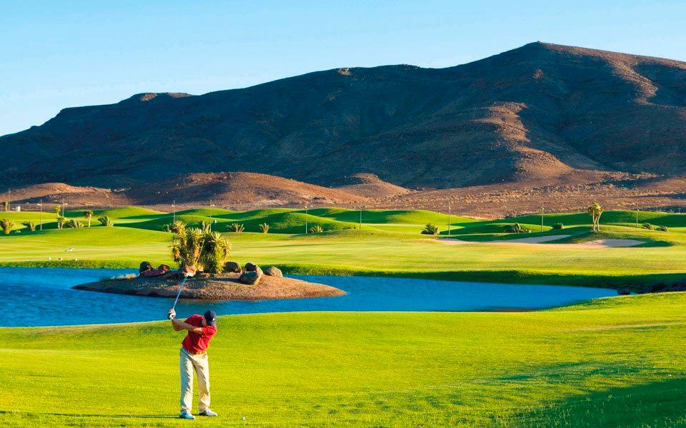Golfspieler Golfplatz