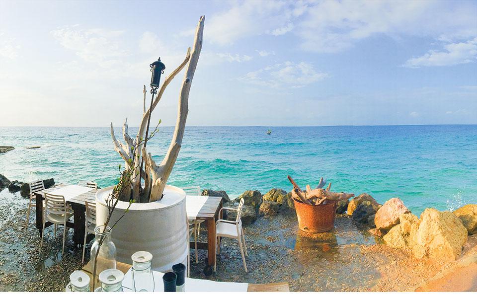 Ausblick auf das Meer auf Curacao