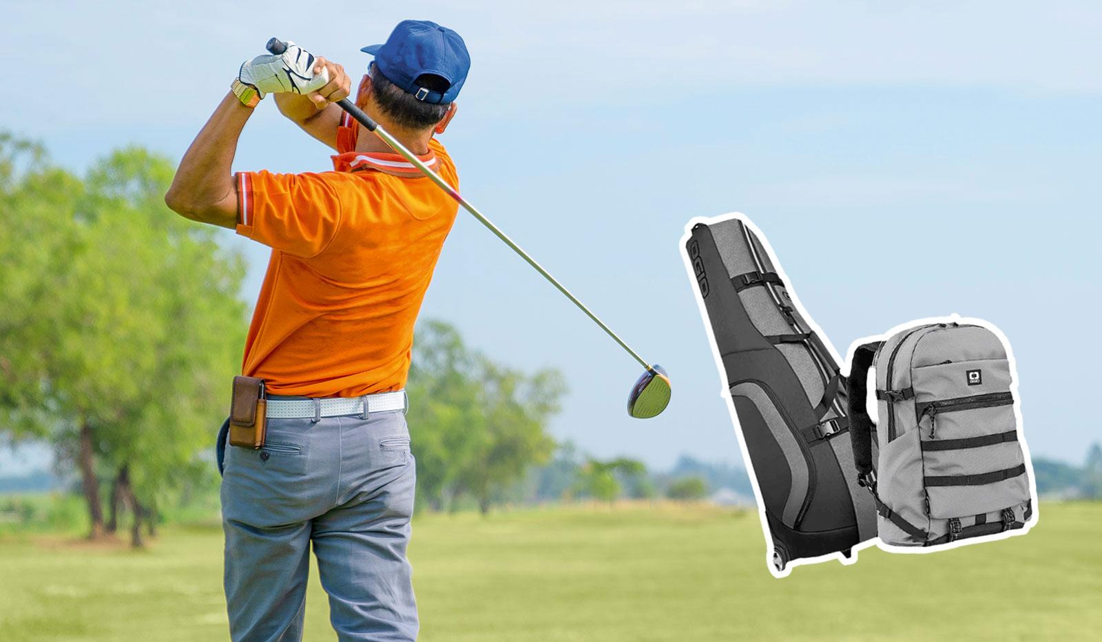 Golfspieler Golfabschlag