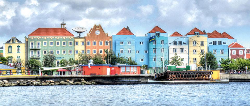 Häuserfassade Curacao