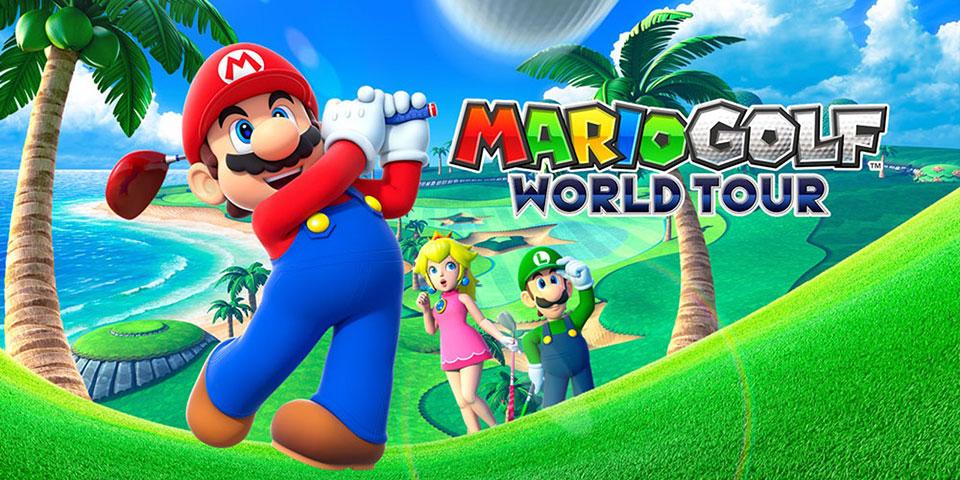 """Titelbild Golfspiel """"Mario Golf:World Tour"""""""