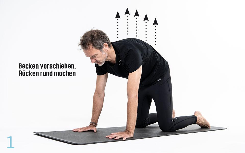 Pilates Huefte Step1 - Pilates Teil 3: Hüfte und Lendenwirbelsäule