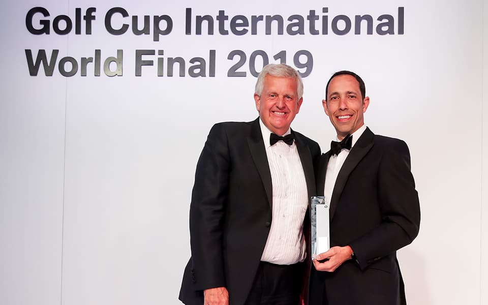 BMW Golf Cup International Weltfinale. Colin Montgomerie, Neil Cronin.
