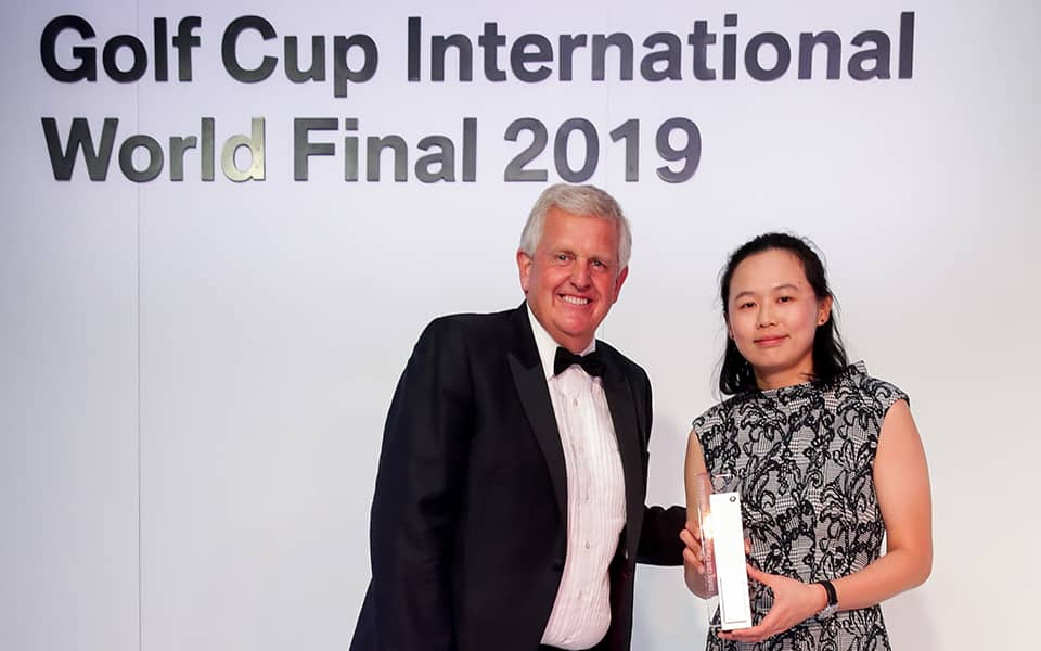 BMW Golf Cup International Weltfinale. Colin Montgomerie, Yingying Chung