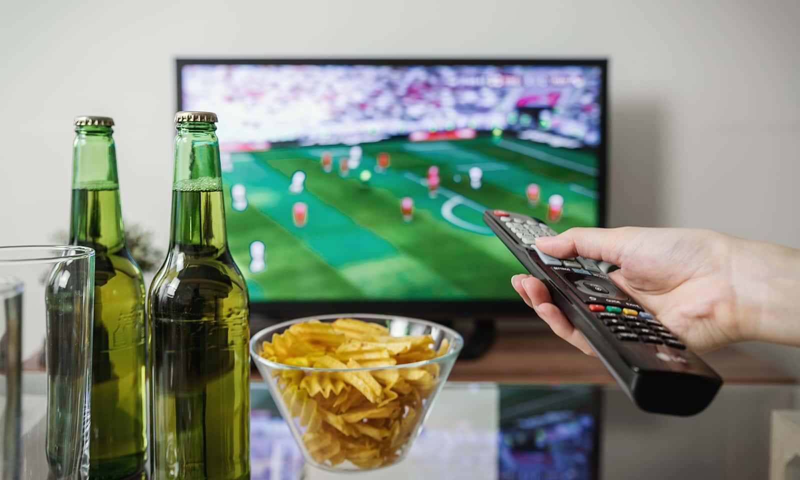 TV Fußballspiel