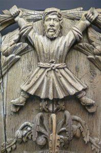 Eine Schnitzerei des Heiligen Saint Andrew