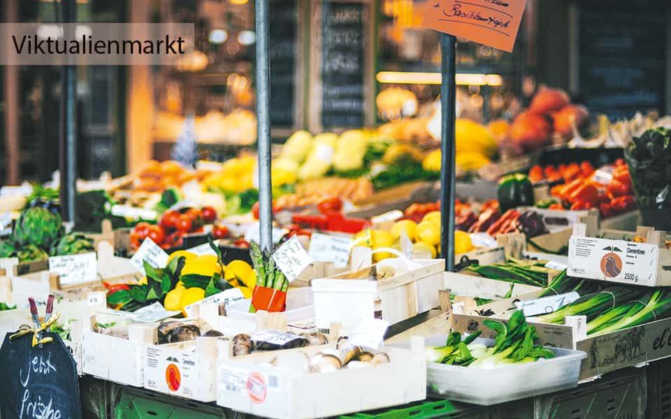 Viktualienmarkt München Gemüsestand