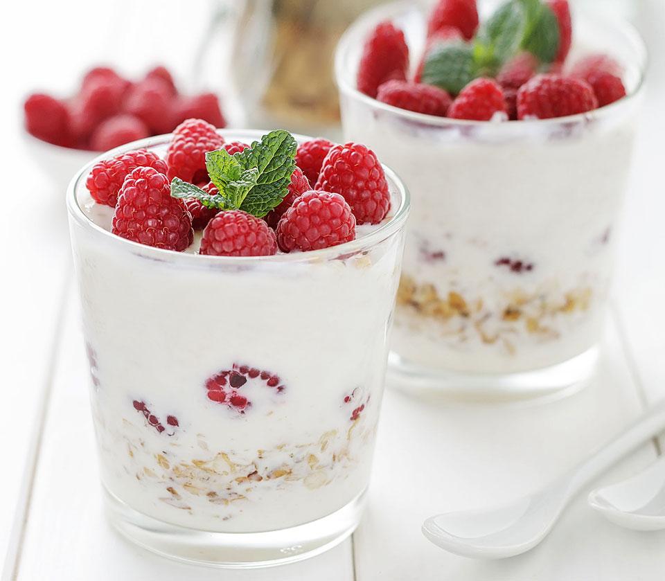 Himbeer-Quark Dessert im Glas