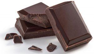 Stück Zartbitterschokolade