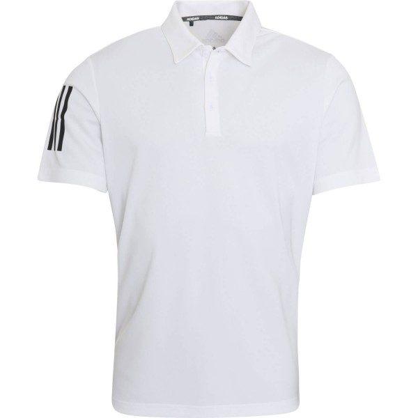 adidas Poloshirt 3-Stripe Basic kurzarm weiß