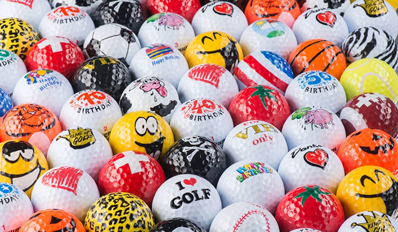 Bedruckte Golfball-Magneten