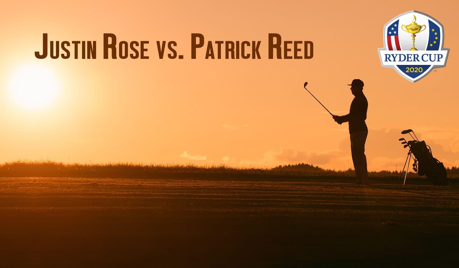 Golfspieler, Sonnenuntergang