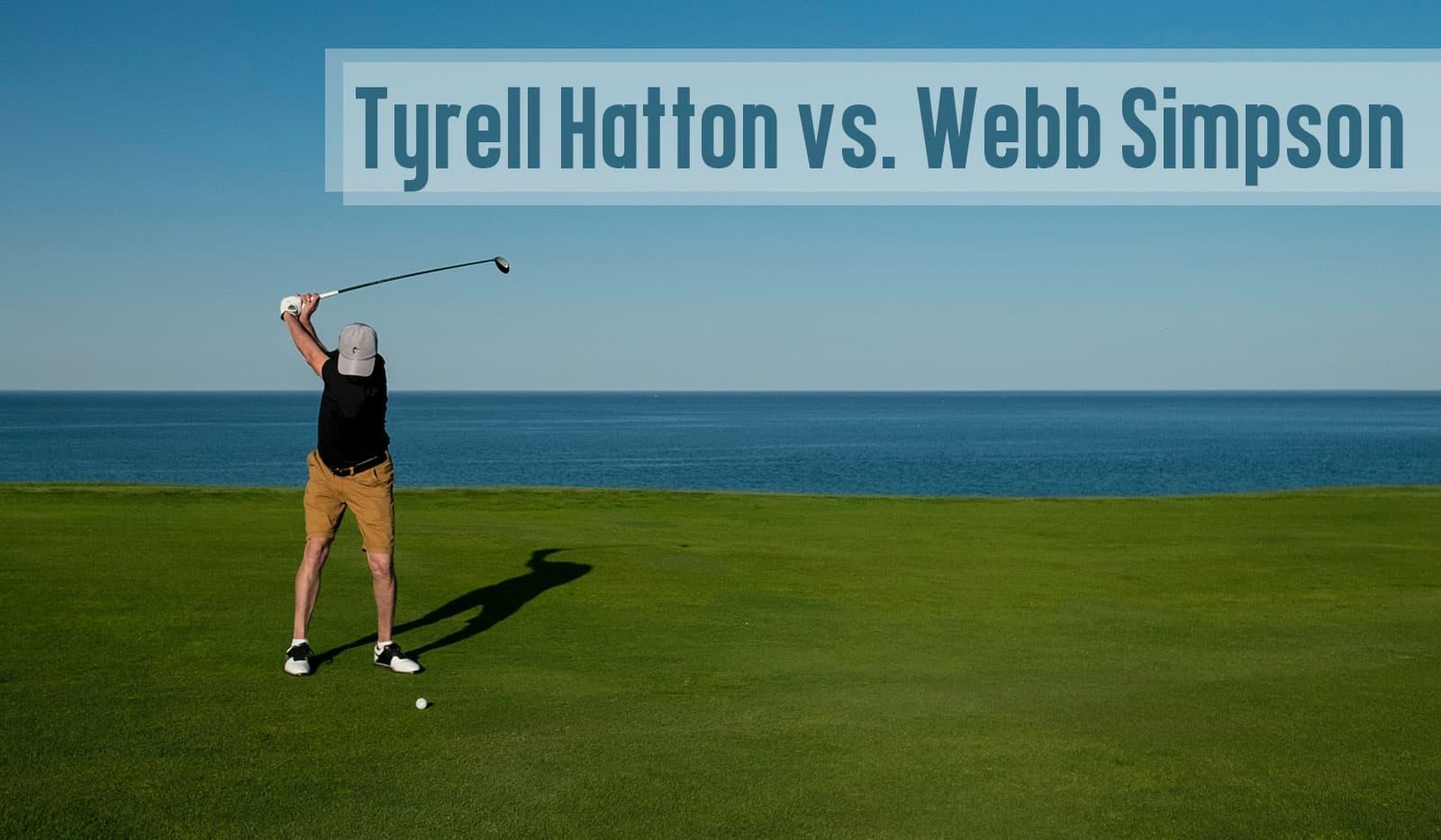 Golfer auf Golfplatz mit Ocean im Hintergurnd
