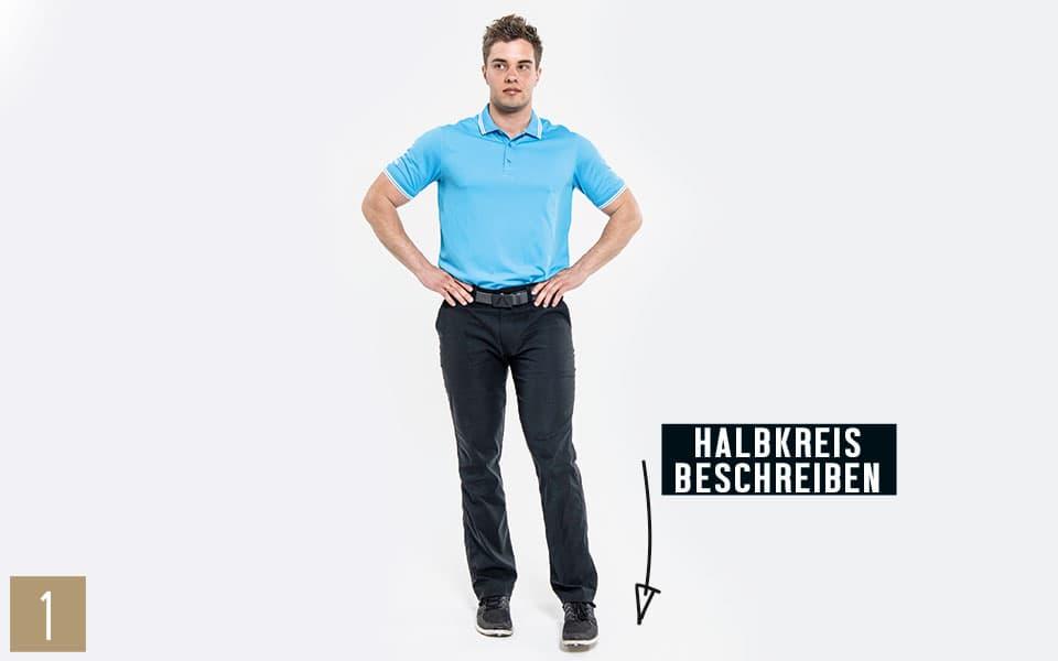 Unterkoerper Einbeinstand1 - Pilates Teil 4: Beine