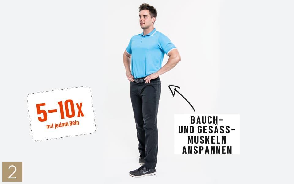 Unterkoerper Einbeinstand2 - Pilates Teil 4: Beine